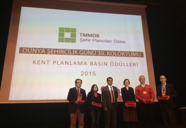 TMMOB Şehir Plancıları Odası Kent Planlama basın ödülleri